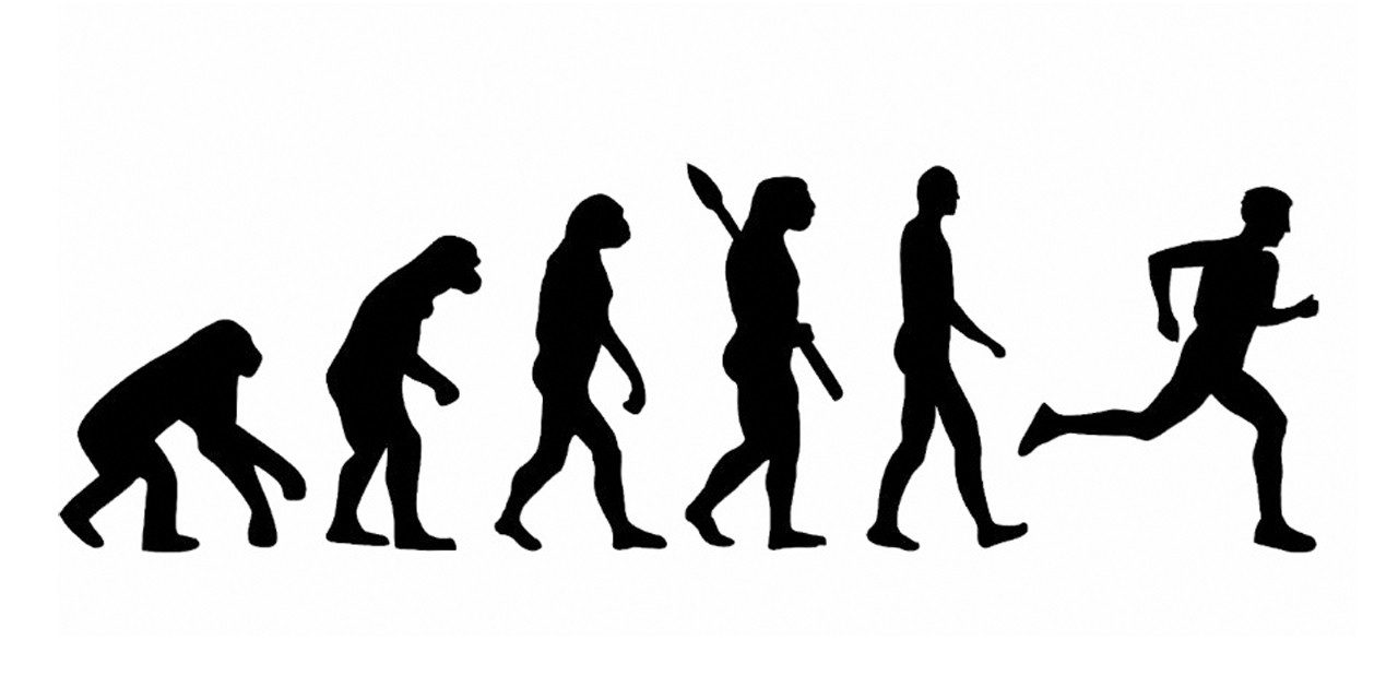 A evolução da corrida juntamente com a evolução humana