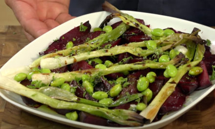 Quick Chop!: Summer salad – roasted beet with scallion and green beans