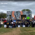 O advogado Adam Juratovac em San Jose mobiliza manifestação para impedir crimes de ódio asiáticos na baía sul.