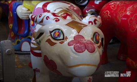 El desfile del Año Nuevo chino gira debido a la pandemia.