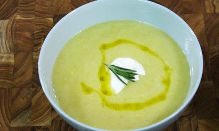 Cómo cocinar sopa de papa y puerro - ¡Picado rápido! Con Eric Liittschwager
